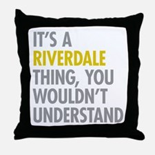 Riverdale Bronx NY Thing Throw Pillow