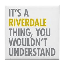Riverdale Bronx NY Thing Tile Coaster