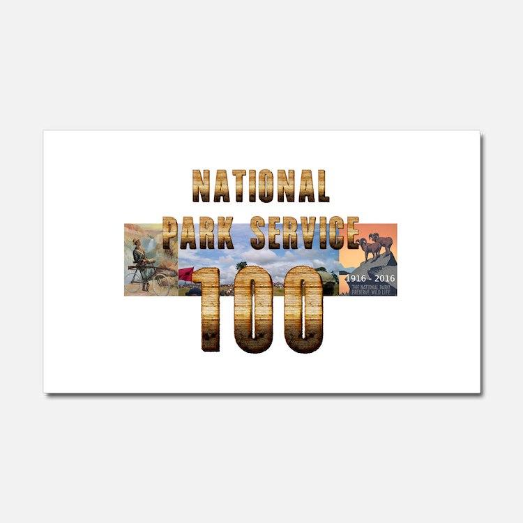 ABH NPS 100th Anniversary Car Magnet 20 x 12