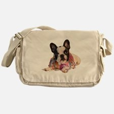 FrenchBulldogPupPied Messenger Bag