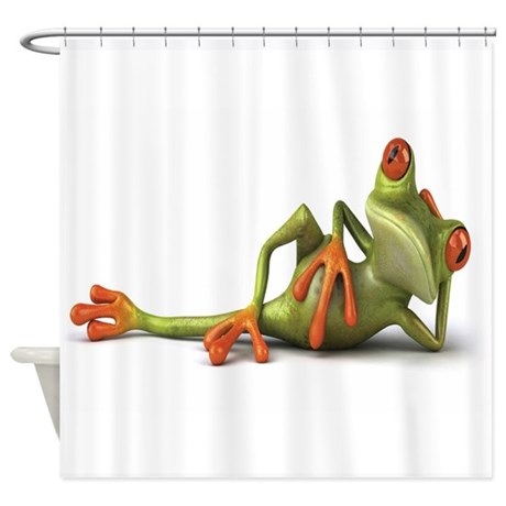 Superior Frog Shower Curtain