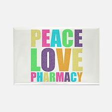 Peace Love Pharmacy Rectangle Magnet