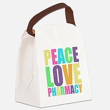 Peace Love Pharmacy Canvas Lunch Bag