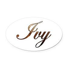 Ivy Oval Car Magnet