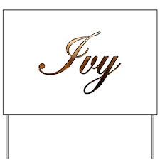 Ivy Yard Sign