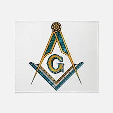 Cute Masonic Throw Blanket
