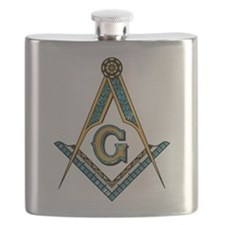 Cute Square and compass Flask