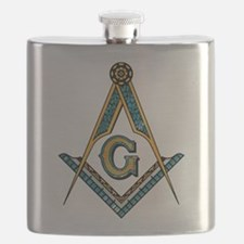 Funny Square and compasses Flask