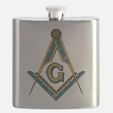 Unique Square and compass Flask