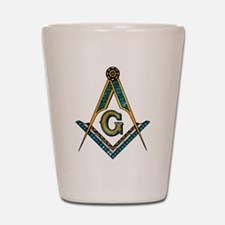 Unique Masonic Shot Glass