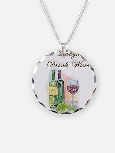 Live Laugh Wine Necklace
