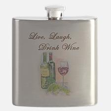 Live Laugh Wine Flask