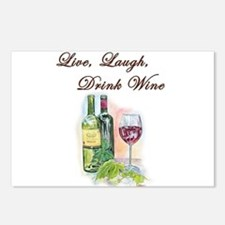 Live Laugh Wine Postcards (Package of 8)