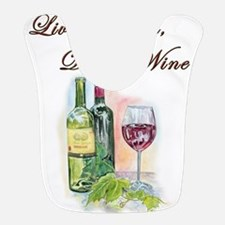 Live Laugh Wine Bib