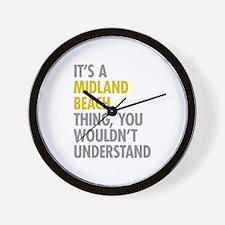 Midland Beach NY Thing Wall Clock