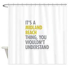 Midland Beach NY Thing Shower Curtain