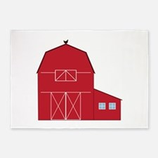 Red Barn 5'x7'Area Rug
