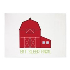 Eat Sleep Farm 5'x7'Area Rug