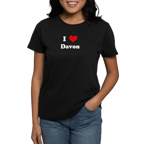I Love Davon Women's Dark T-Shirt
