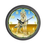 Wolf Stare Wall Clock