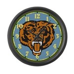 Fierce Bear Large Wall Clock