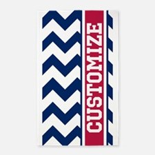 Customized Red White Blue Chevron Pattern 3'x5' Ar