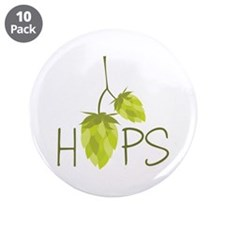 "Hops 3.5"" Button (10 pack)"