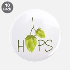 """Hops 3.5"""" Button (10 pack)"""