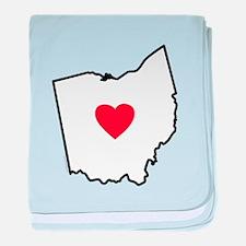 I Love Ohio baby blanket