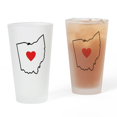 I Love Ohio Drinking Glass