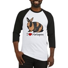 I Heart Harlequin Rabbits Baseball Jersey