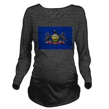 pa Long Sleeve Maternity T-Shirt