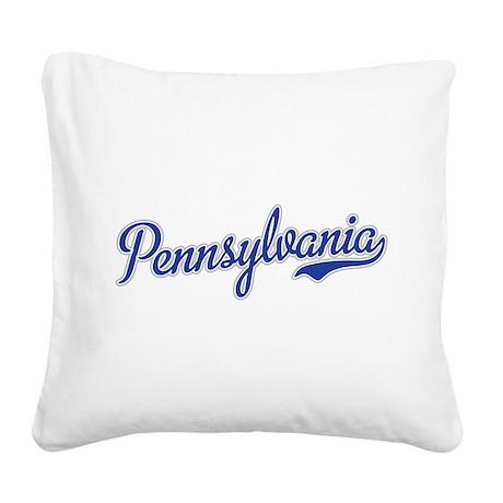 Pennsylvania Script Font Square Canvas Pillow