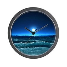 Moonlight Waves Wall Clock