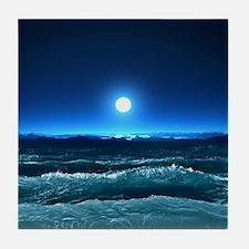 Moonlight Waves Tile Coaster