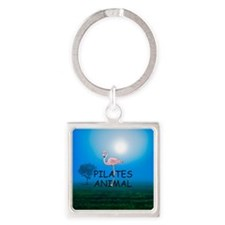 Pilates Animal Square Keychain