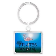Pilates Animal Landscape Keychain