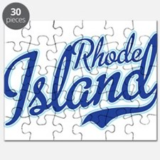 Rhode Island State Script Font Puzzle
