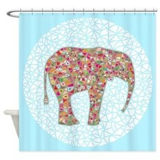 Elephant Circle #2, Shower Curtain