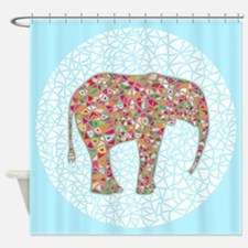 Elephant Circle #2, Shower Curtain