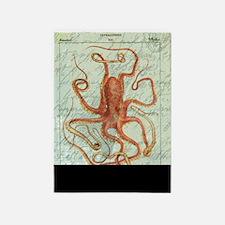 Vintage Octopus Script 5'x7'area Rug