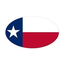 Texas State Flag Oval Car Magnet