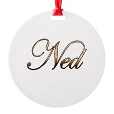 Gold Ned Ornament