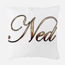 Gold Ned Woven Throw Pillow