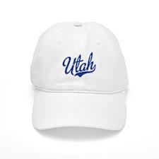 Utah State Script Font Baseball Baseball Cap