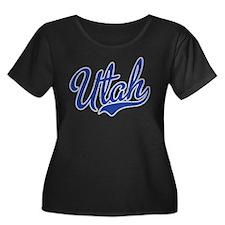 Utah State Script Font Plus Size T-Shirt
