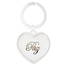 Gold Paz Heart Keychain