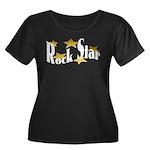 Rock Star Women's Plus Size Scoop Neck Dark T-Shir