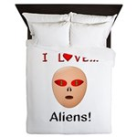 I Love Aliens Queen Duvet