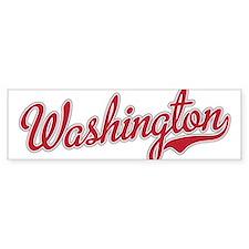 Washington State Script Font Bumper Bumper Sticker
